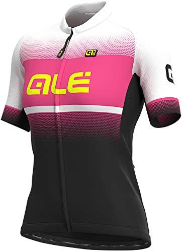 Alé Cycling Solid Blend Kurzarm Trikot Damen Black/Fluo pink Größe M 2021 Radtrikot kurzärmlig