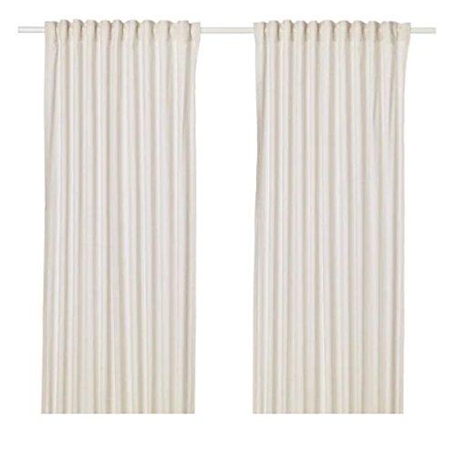 HANNALILL IKEA - Par de Cortinas en Beige; 100% algodón; 145 x 300 cm