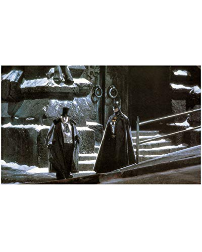 Michael Keaton as Bruce Wayne aka Batman Standing with Danny DeVito aka Penguin 8 x 10 Inch Photo