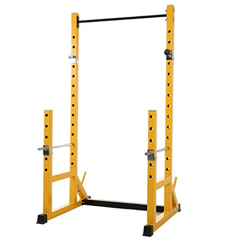 DSHUJC Squat rack Weight Lifting Cage Half-frame Squat Rack Barbell Stand Squat Equipment Fitness Equipment Multi-functional Barbell Suit Household Power Cages Strength Training