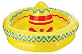 """Beistle Novelty Plastic Inflatable Mexican Sombrero Cooler Cinco De Mayo Fiesta Theme Drink Holder Party Suppliescan Decorations, 18"""" x 12"""", Yellow/Red/Blue"""