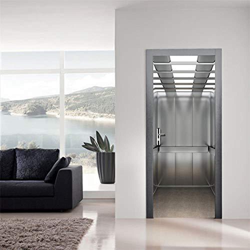 3D Deurfolie Deurfolie Zelfklevende Waterdichte Verwijderbare Deurbehang Fotobehang Decals Home Design-As_Shown_85X215Cm