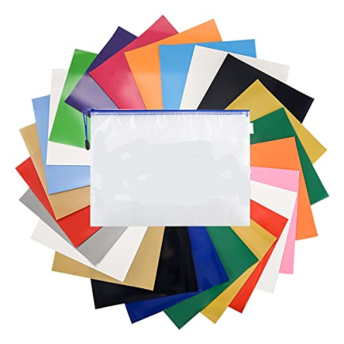 LAOYE Plotterfolie Textil 25 Blatt Vinylfolie für Plotter 16 Farben Transferpapier zum Aufbügeln 30cm x 25cm Bügelfolie Flexfolie für Cricut & Silhouette Cameo - Textilfolien auf DIY T-Shirts Stoffe