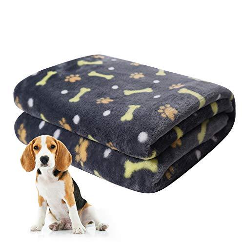 softan Manta para Mascotas, Manta para Perros esponjosa para Perros pequeños, medianos y Grandes, Manta de Cachorro Lavable para Perros Cama, 60 x 80cm, Negro