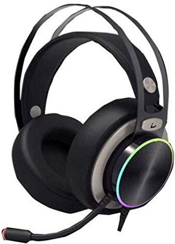 KEMANDUO Gaming Headset, USB7.1 Gaming Headset, Streamer Lichter Over-Ear-Kopfhörer mit Noise-Cancelling Mikrofon, geeignet für Musik/Tägliche Freizeit/Gaming Headset