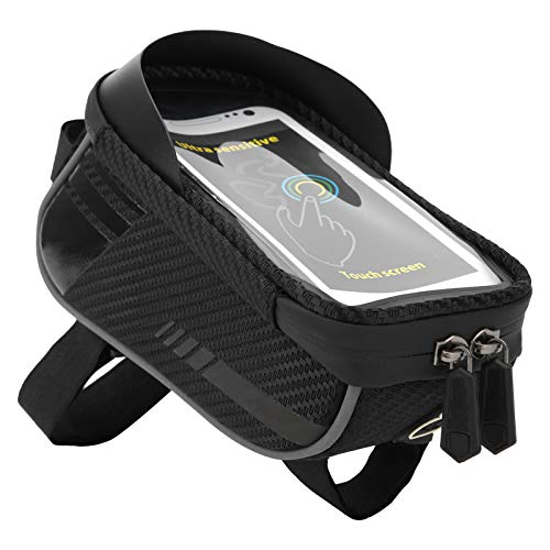 Bolsa de cuadro frontal Bolsa de bicicleta Bicicleta de ciclismo de gran capacidad Marco de tubo superior delantero Bolsa para tocar el teléfono Impermeable 6.5 '' Funda de soporte para teléfono Acces