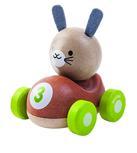 PlanToys- Bunny Racer, PT5680, Wood