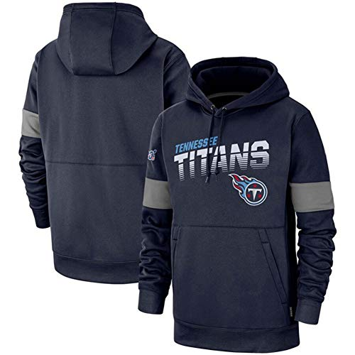 DKZ Herren Hoodie – NFL Tennessee Titans Fußballteam Hoodies,Kapuzenpullover Casual Sweatshirt Langarm Basketball Training Anzug Fitness Kleidung, S