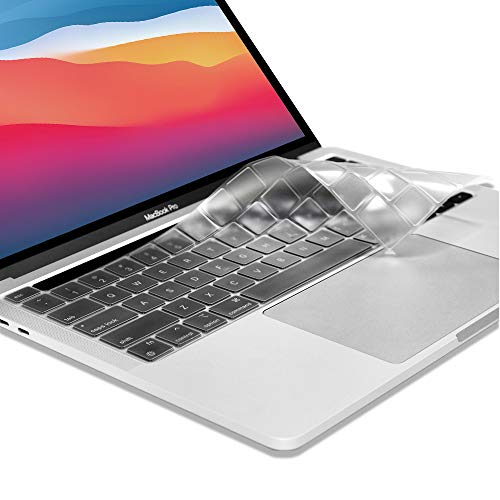 """ProElife Ultra Thin TPU Keyboard Cover Skin for Newest MacBook Pro 13.3"""" 13 inch 2020 (Model: A2338) with Apple M1 Chip / Touch ID / Touch Bar Accessories (for Mac pro 13'' M1, Clear)"""