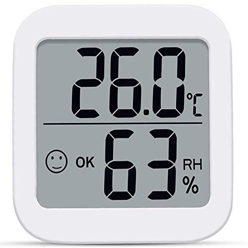 BOINN TermohigróMetro Digital TermóMetro de HabitacióN Interior HigróMetro Medidor de Humedad Medidor de Temperatura para el Hogar Monitor LCD Grande