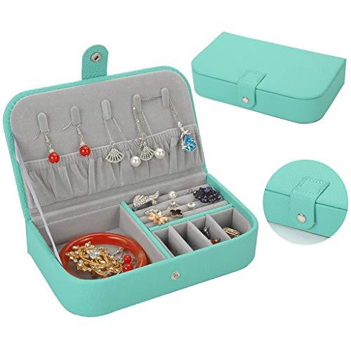 Joyero Caja De Joyería Pequeña Mujer Viajes Caja De Joyería Portátil Mini Joyería Organizador Caja para Anillos Pendientes Collar Niñas Regalo de joyería (Color : Jewelry Box C)