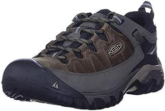 KEEN Men's Targhee 3 Low Height Waterproof Hiking Shoe, Bungee Cord/Black, 10