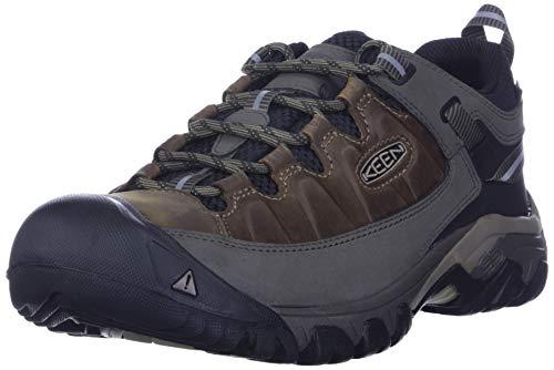 KEEN Men's Targhee 3 Low Height Waterproof Hiking Shoe, Bungee Cord/Black, 10.5