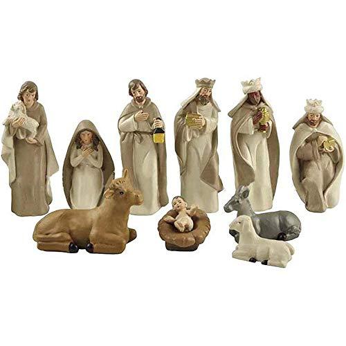 Nativity Set, Modern Nativity Scene Set Crib Scene Christmas Decoration New Festive Ornament Figures & Base