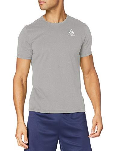 Odlo BL Top Crew Neck s/s Millennium Element Shirt Homme Grey Melange FR : L (Taille Fabricant : L)