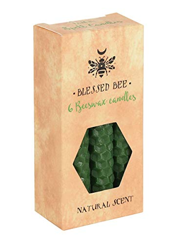 Blessed Bee Beeswax Spell Luck & Vitality Candle Green 5x11cm