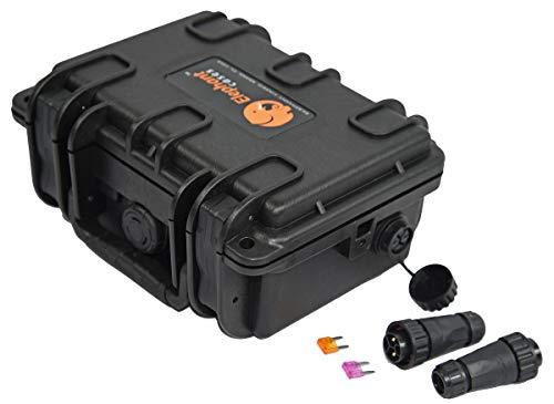 Elephant B095S2 Kayak Battery Box Waterproof Battery Enclosure for Powering GPS, Fish Finders, Led...