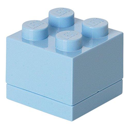 Room Copenhagen Minicaja de 4 espigas de Lego, Caja para tentempiés, Claro, Azul Royal Clair, 4 knobs