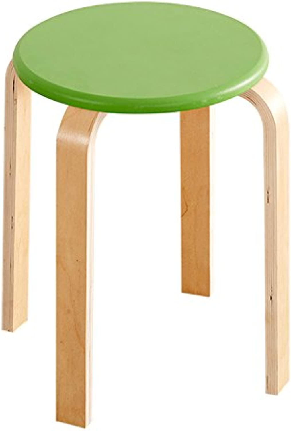 Solid Wood Simple Modern Stool, Coffee Chair Bar Entrance Bar Fabric Wooden Bench ( color   Green )