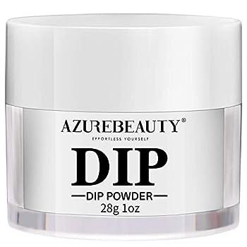 AZUREBEAUTY Dip Powder Clear Color Nail Dipping Powder French Nail Art Starter Manicure Salon DIY at Home Odor-Free and Long-Lasting No Needed Nail Lamp Curing 1 Oz