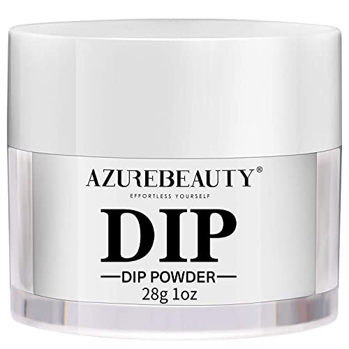 AZUREBEAUTY Dip Powder Clear Color(1oz) for French Nail Manicure Nail Art, Odor-Free, without Nail Lamp Cured, Long Lasting