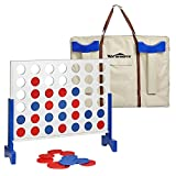 Giant Wooden 4 in A Row – Four Connect Board Game Set in White – Ideal Family Game for Kids &Adults – Outdoor Indoor Game for Backyard,Lawn,Parties,Bar Game (3 FT) -  Win SPORTS
