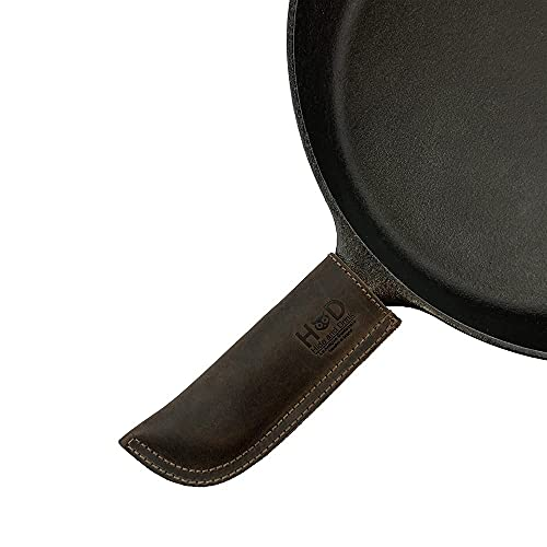 Hide & Drink, Leather Hot Handle Panhandle Potholder Double Layered Double Stitched Cookware Slides...