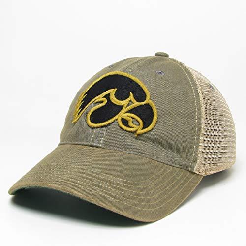 NCAA Mens Iowa Hawkeyes Legacy Old Favorite, Adjustable, Grey Trucker