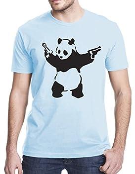 Gbond Apparel Banksy Panda T-Shirt Large Light Blue