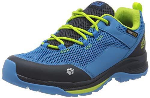 Jack Wolfskin Unisex Kinder Force Striker Vent Low K Walking-Schuh, Blue/Lime, 37 EU