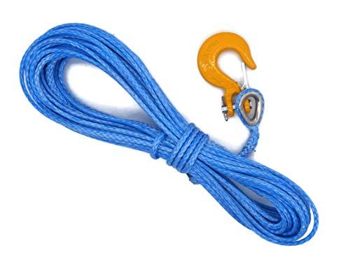 Cuerda de Dyneema sintética 5mm Cabrestante de cable de 20m ATV Cuatrimoto de plástico Offroad con g