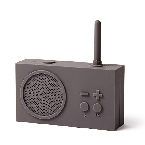 Lexon TYKHO 3 Radio FM + Enceinte Bluetooth Gris Chaud Taupe LA119G9