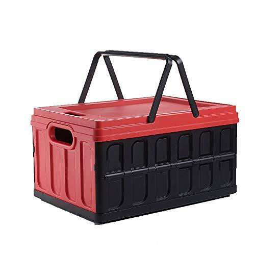 Opvouwbare opbergbox handmand multifunctionele outdoor auto Trunk PP kunststof opbergmand belasting 25 kg kan worden gebruikt als outdoor opvouwbare stoel eettafel (2 Pack)