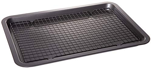 Non stick Coated Baking Sheet Pan with Coolin Rack - Cookware Set - 17.75' X 13'