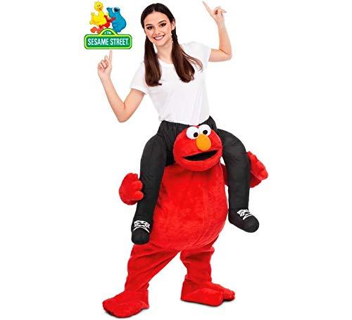 Barrio Sésamo Disfraz a Hombros de Elmo para Adultos