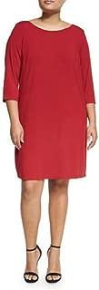Eileen Fisher Viscose Jersey RED Brick Dress 1X 2X