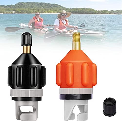 YOMERA Adattatore per Kayak 2 PCS, SUP Adattatore Pompa per Valvola Pneumatica Portatile, Accessorio per Pompa Gonfiabile SUP Kayak,Gommone,Canoa,Barca a Remi Gonfiabile