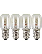 OSALADI 4 stuks LED koelkast gloeilamp 220V 15W apparaat gloeilamp magnetron oven gloeilamp vriezer plafond verlichting lamp voor naaimachine (Transparant)