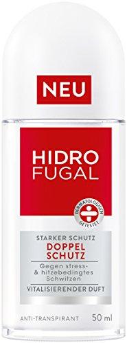 Hidrofugal Doppelschutz Deoroller, Anti-Transpirant gegen stress- & hitzebedingtes Schwitzen, Deodorant mit vitalisierendem Duft wirkt gegen Achselnässe und Körpergeruch
