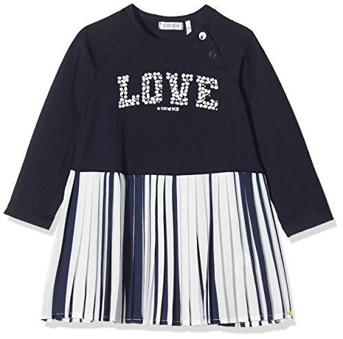IKKS Junior Baby-Mädchen Robe Plissée Love Ml Rock, Blau (Navy 48), 18-24 Monate (Herstellergröße: 18M)