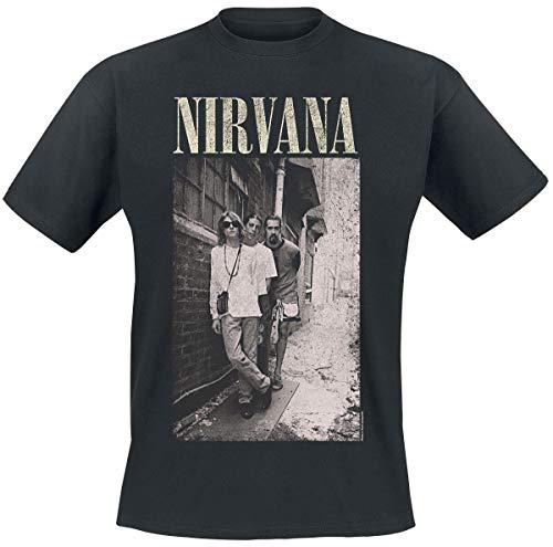 Nirvana Alleyway Hombre Camiseta Negro M, 100% algodón, Regular