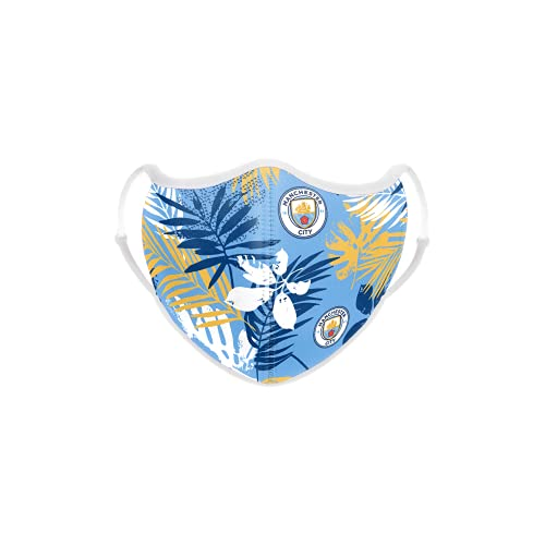 MANCHESTER CITY FC FOOTBALL EPL PREMIER LEAGUE CHAMPIONSHIP FLORAL SPRING FACE COVERING