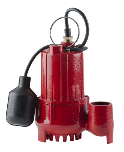 Red Lion 14942746 Sump Pump with Tethered Float Switch, Cast Iron