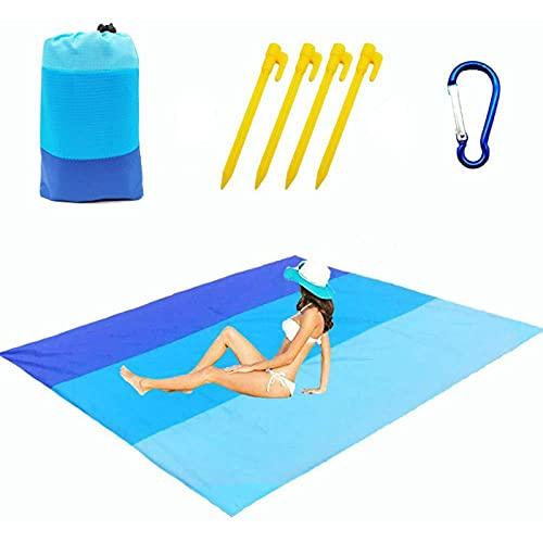 QSLS Colchoneta de Camping Manta de Playa Impermeable Colchoneta de Picnic portátil al Aire Libre,210 * 200cm