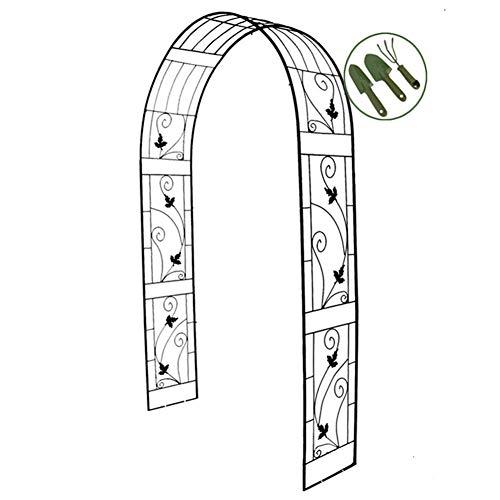 Arco para jardín con diseño de rosas y pabellón de metal para escalar vides, plantas, decoración de fiestas de boda, soporte de plantas para jardín al aire libre, jardín y patio trasero