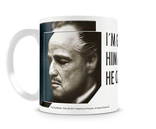 Taza de café con licencia oficial con texto en inglés 'I m Gonna Make Him An Offer'.
