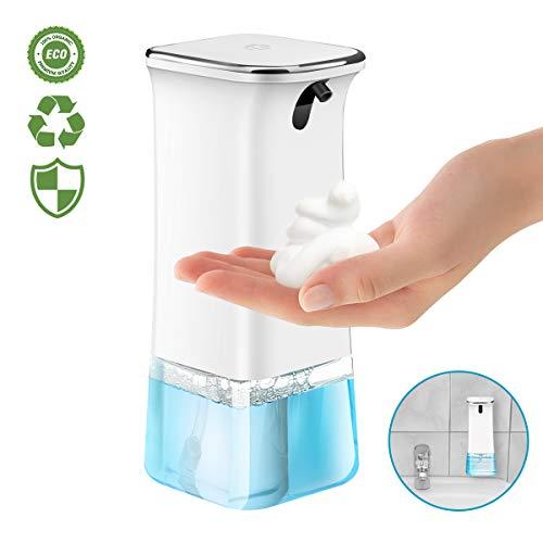 TAPCET Dispensador de jabón automático, dispensador de jabón de 280 ml con tecnología Inteligente de sensores Infrarrojos, operación sin Contacto, 3 Niveles Ajustables