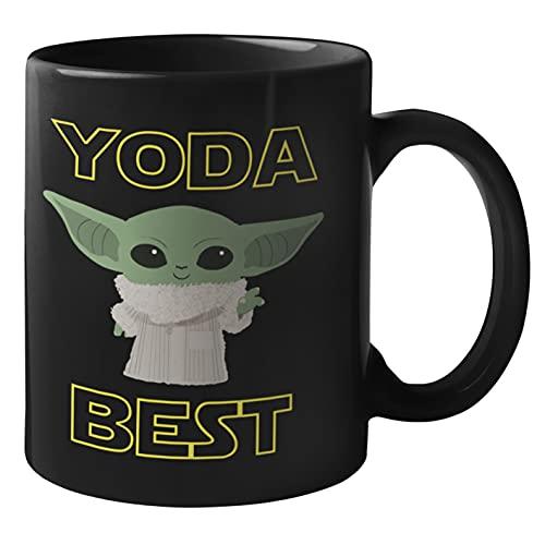 Yoda Best Mug - FathersDay Mugs for Dad Star Wars Dad Mug, Valentines Day Mugs for Boyfriend | Baby Yoda Best Dad Ever Coffee Mug Gift for Star Wars Fans | Daddy Star Wars Gift for Father (Yoda Best)