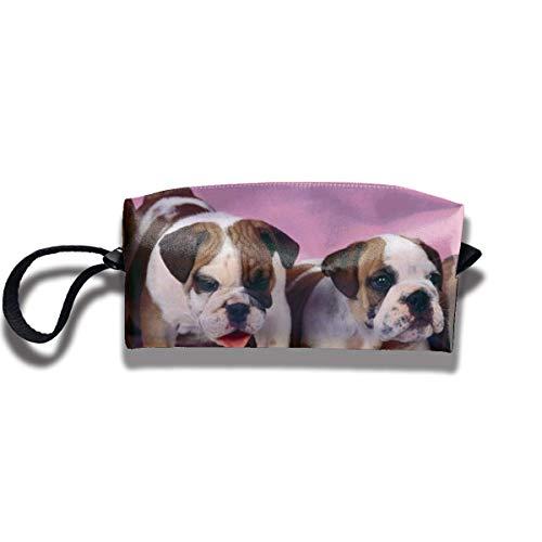TRFashion Toiletry Bag English Bulldogs PatternStorage Bag Beauty Case Wallet Cosmetic Bags Sac de Rangement Trousse de Toilette