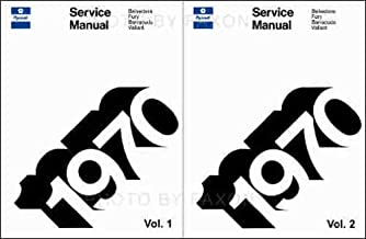 1970 PLYMOUTH REPAIR SHOP & SERVICE MANUAL 2 VOL. SET COVERS; Fury, Sport Fury, Sport Fury GT, Road Runner Belvedere Satellite, Sport Satellite, GTX, Barracuda ('Cuda), Gran Coupe, Valiant Duster Duster 340 Suburban Sport Suburban Custom Suburban